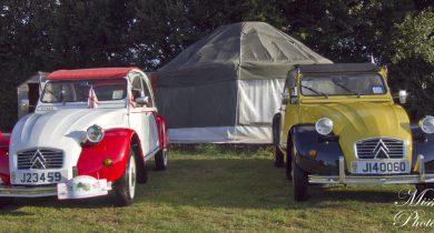 Glamping yurt & 2cvs